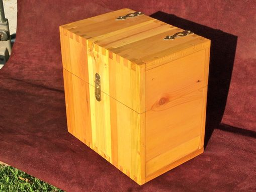 Custom Made Treasure Chest In Reclaimed Hickory And Pine