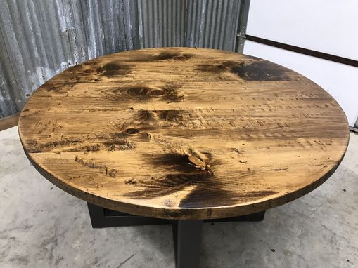 "Custom Made 48"" Round Metal Table"