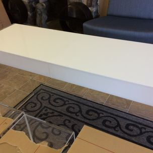 Linda hodgson highland crafts and acrylics denville nj custom hand made acrylic vanity desk lucite table for bedroom bathroom by negle Gallery