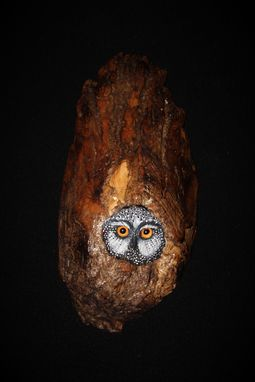 Custom Made Wood Carving -  Owl - Original Hand Made Bird Sculpture -  Wall Art
