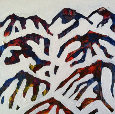 Custom Made Abstract Alpine Snow Mountain Paintings