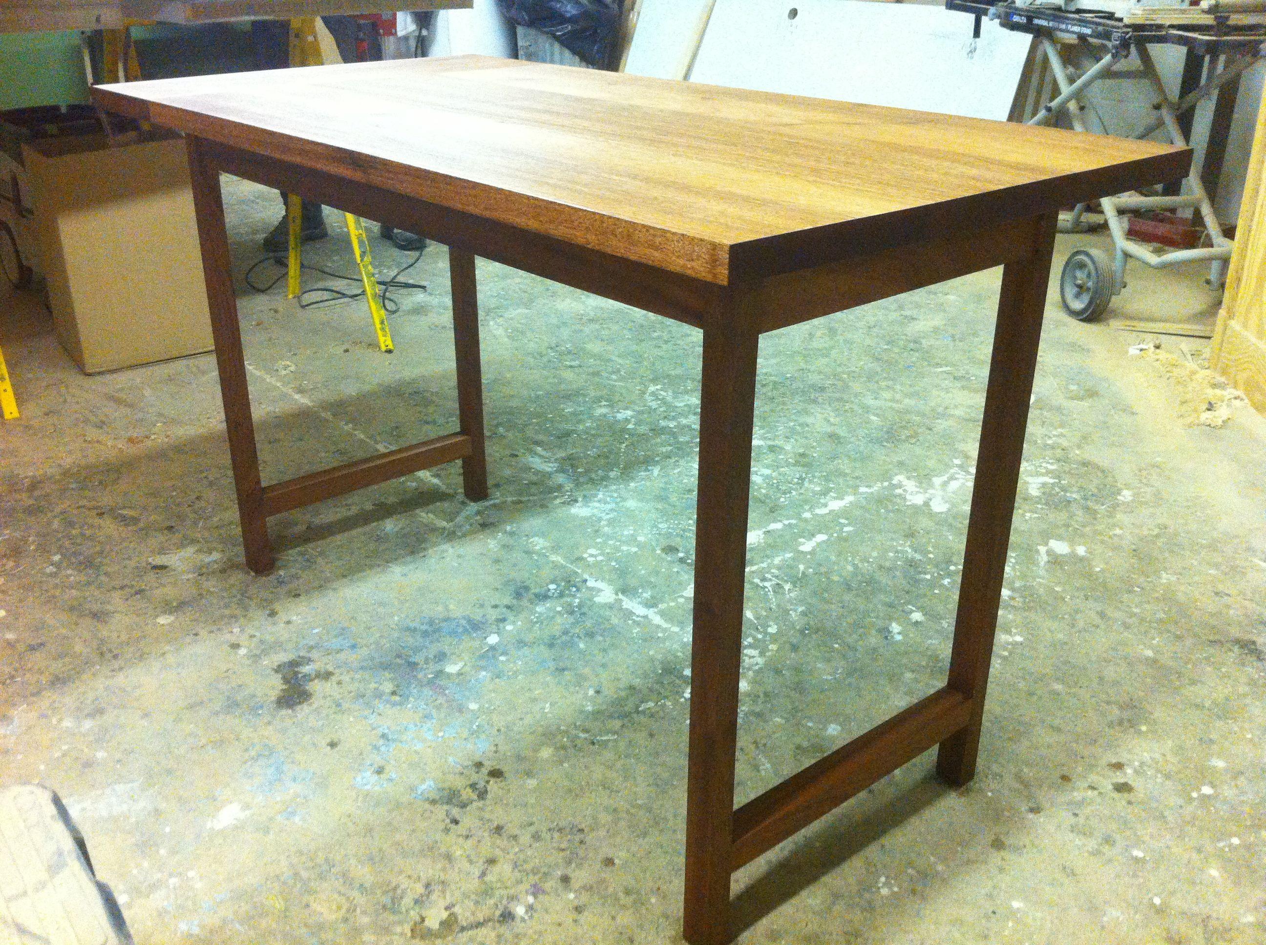 Custom made simple dining table