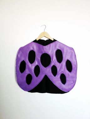 Custom Made Purple Ladybug Cape, Halloween Costume Or Dress Up Cape For All Ages