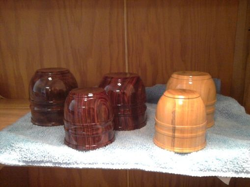 Custom Made Wood Cup Turnings