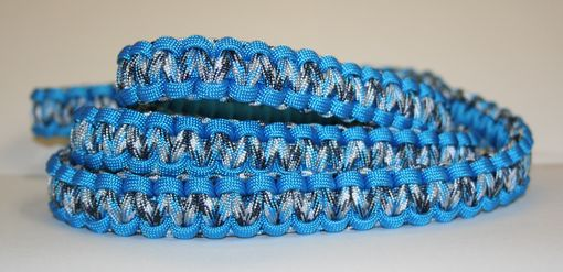 Custom Made Blue Camo Paracord Leash & 14-18