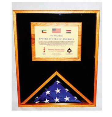 Custom Made Large Military Memorial Flag Medal Display Case