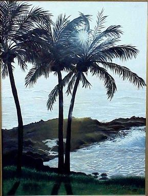 Custom Made Tropical Evening -- Oil Painting