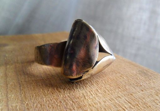 Custom Made Unisex Brass Ring With Petal-Inspired Design