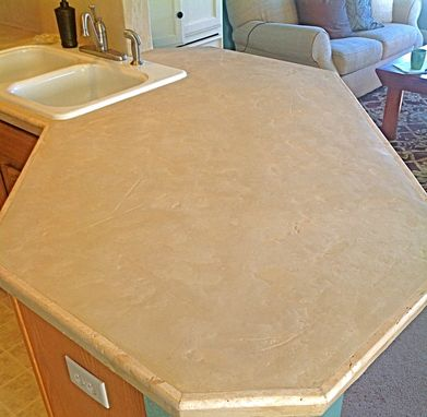 Custom Made Grindstone In Travertine Finish
