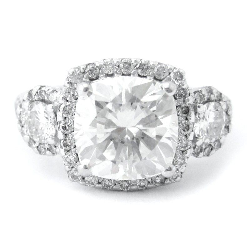 e4ca3af0794f Custom Engagement Ring Antique Style- Cushion Cut Center Stone by ...