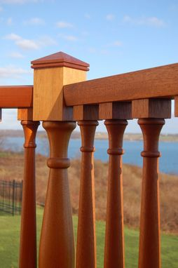 Custom Made Custom Mahogany Mortise And Tenon Deck Railing