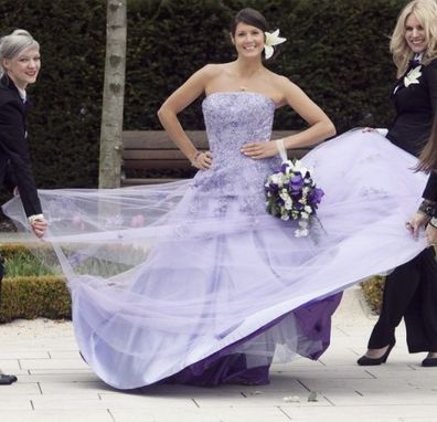 Custom Made Lavender Wedding Dress