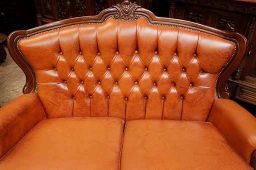 Custom Made Leather Living Room Set - Sofa - Love Seat - Arm Chair