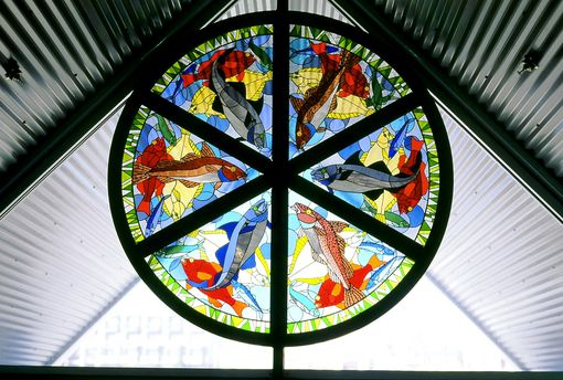 Custom Made Stained Glass Windows In Ferry Terminal