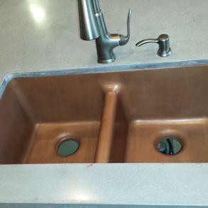 Custom sinks custommade sink custom concrete gfrc concrete copper sink 36 workwithnaturefo