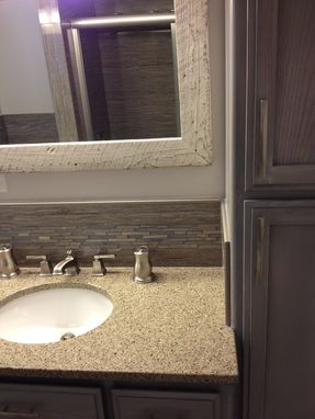 Custom Made Reclaimed Barn-Wood Frame And Mirror