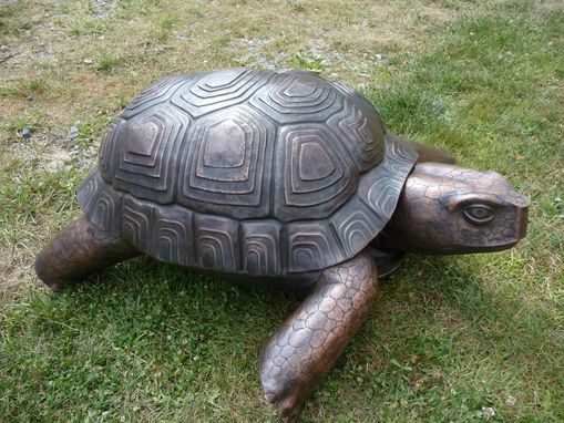 Custom Made Copper Tortoise Sculpture