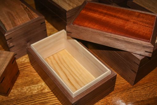 Custom Made Solid Wood Keepsake Box With Contrasting Top