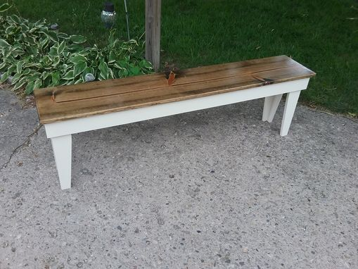 Custom Made Reclaimed Wooden Bench Wood Bench Entryway Bench Hallway Bench Dining Bench