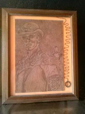 Custom Made Steam Punk Leather Portrait