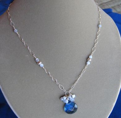 Custom Made Royal Blue And Silver Necklace