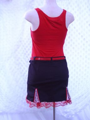 Custom Made Slashed Upcycled Skirt With Skull Godets Size Medium