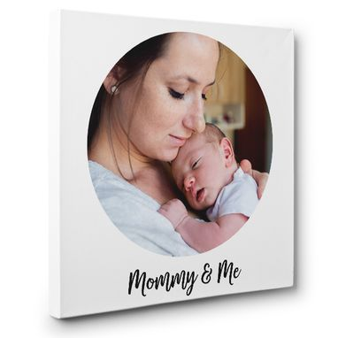 Custom Made Personalized Mommy Portrait Custom Photo Canvas Art