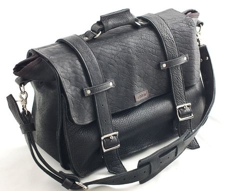 "Custom Made 20"" Leather Laptop Bag - Handmade In The U.S.A. - American Buffalo Leather - Perfect Pitch"