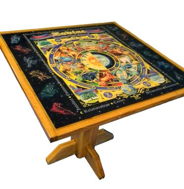 Custom Made Epoxy Coated Zodiac Graphic Table