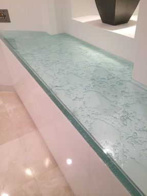 Custom Made Thick Glass Countertop