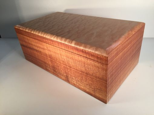 Custom Made Handcrafted Humidor - Koa And Quilted Maple