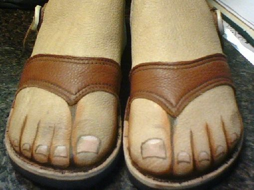 Custom Made Flesh Tone Caribou Leather Short Shoes Made To Look Like Feet