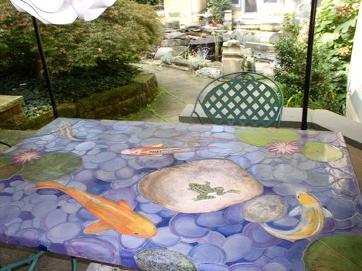 Custom Made Koi Garden Table