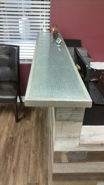 Custom Made Reclaimed Wood Multi-Tone Reception Desk