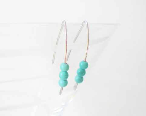 Custom Made Sterling Silver And Turquoise Howlite Earrings