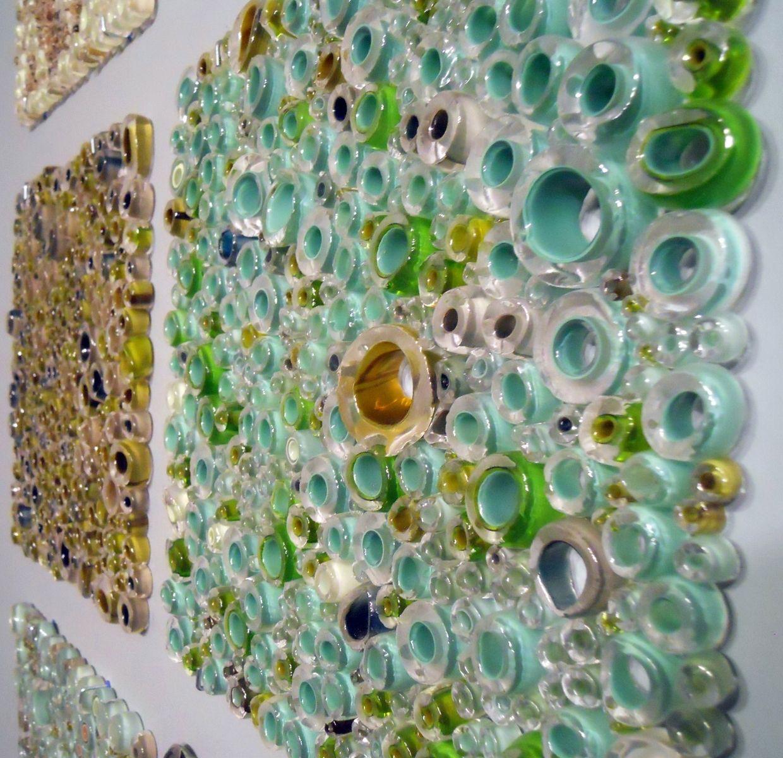 Wall Panel Art handmade glass wall panel art work, fused tubing serieswolf