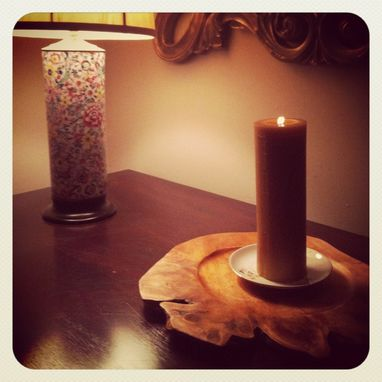 Custom Made Pure Local Beeswax Pillar /Large And Long Burning /Cleans The Air /Natural Honey Scent