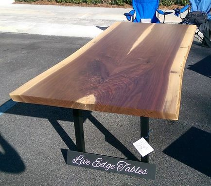 Custom Made Live Edge Walnut Dining Table