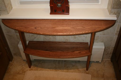 Custom Made Oak Bathroom Table