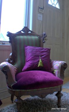Custom Made Upholstered Vintage East Lake Armchair