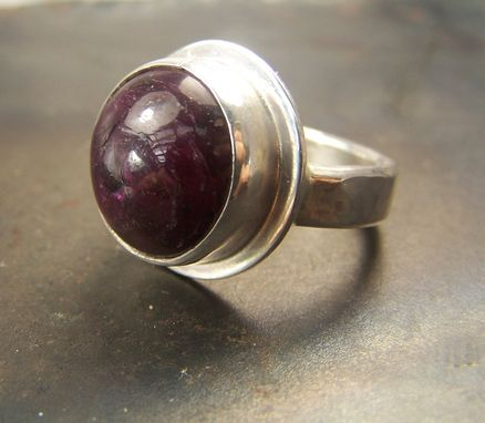 Custom Made Natural Ruby Ring