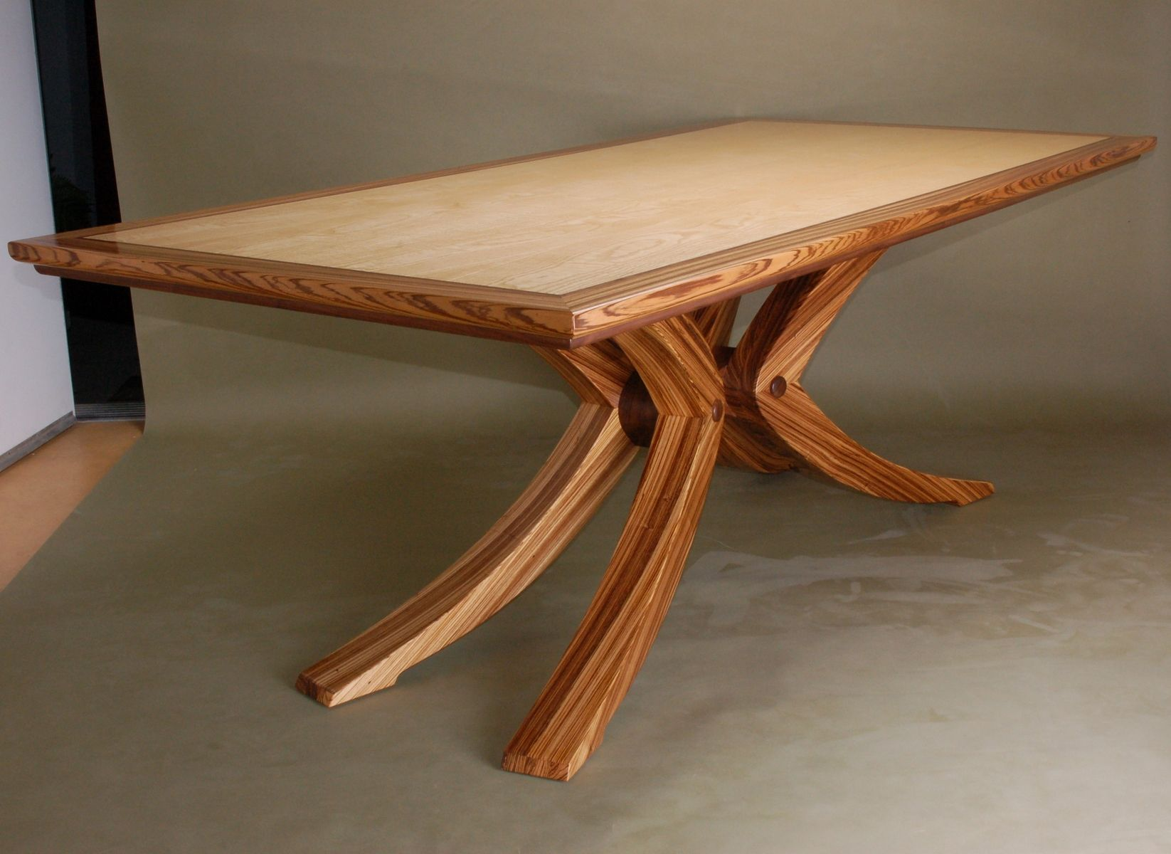 Custom Made Zebrawood Dining Table