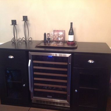 Custom Made Credenza/Sideboard With Wine Rack
