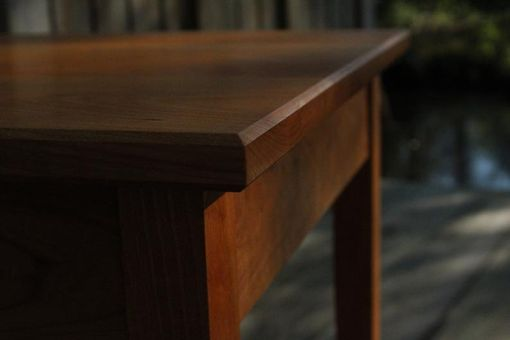 Custom Made Tapered Leg End Table In Cherry