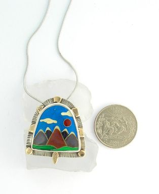 Custom Made Mountain Pin And Necklace