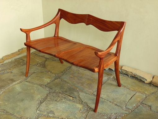 Custom Made Maloof Inspired African Mahogany Settee