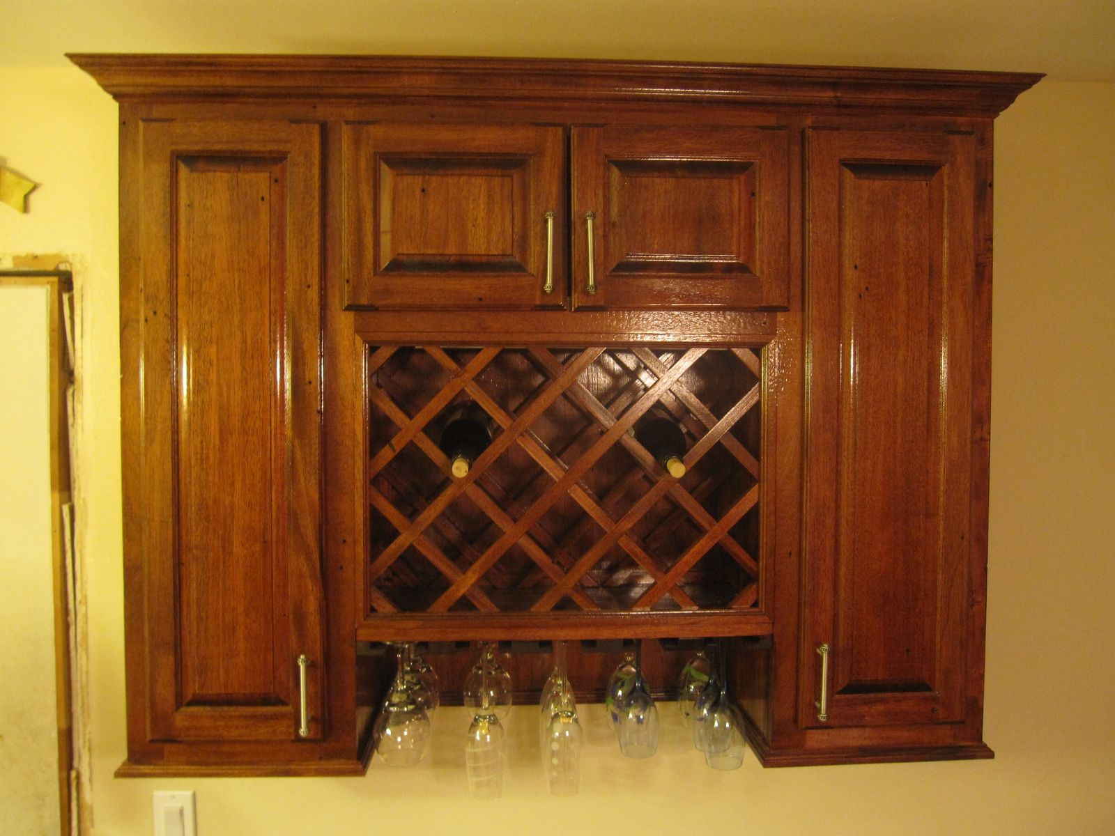 Hand Made Wine Rack Cabinet By Cross Cut Construction Custom