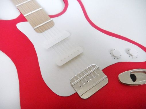 Custom Made Guitar Greeting Card