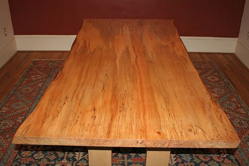Custom Made Ambrosia Maple Dining Table, Live Edge