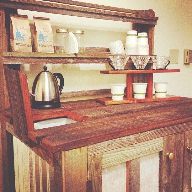 Reclaimed Wood Coffee Bar